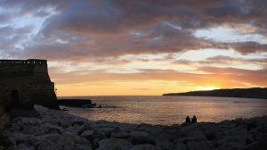 lungomare napoli tramonto posillipo