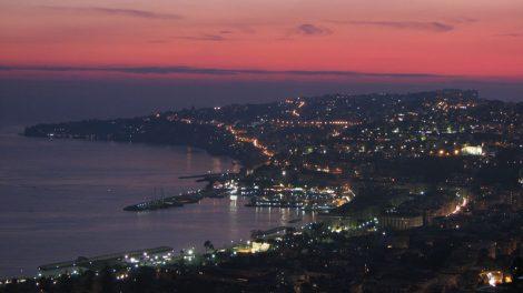 tramonto rosso collina posillipo